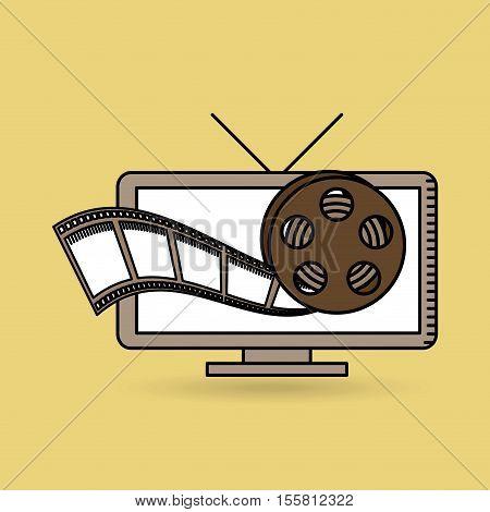 tv online movie strip film design vector illustration eps 10