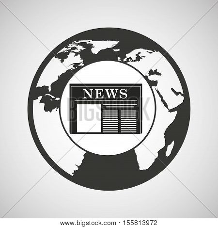 globe news concept icon graphic vector illustration eps 10