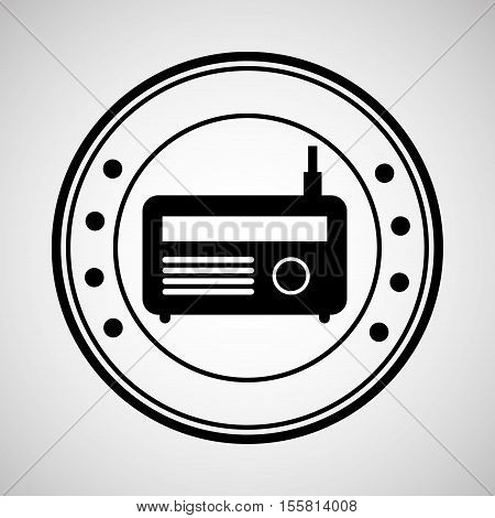 icon radio news sound design graphic vector illustration eps 10