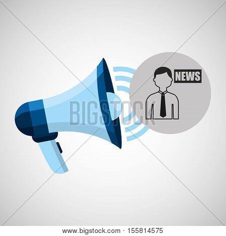 megaphone concept news anchorman design vector illustration eps 10