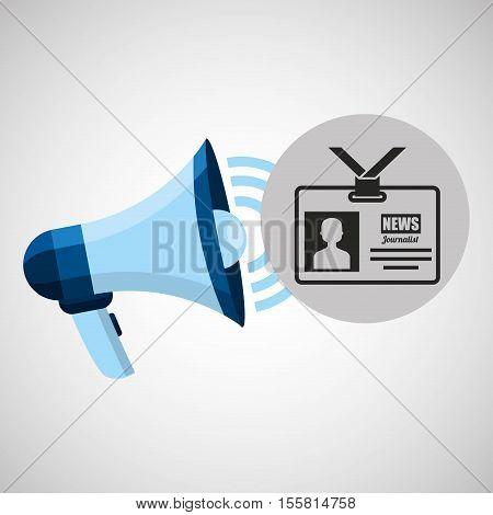 megaphone concept tv news design vector illustration eps 10