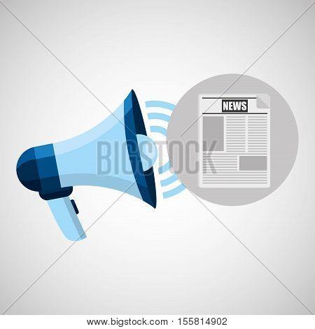 megaphone concept news design vector illustration eps 10