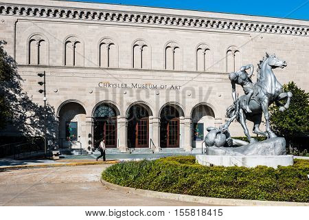 NORFOLK, VIRGINIA - MAY 2, 2015:  Anna Hyatt Huntington's