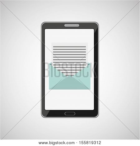 concept email message smartphone icon vector illustration eps 10