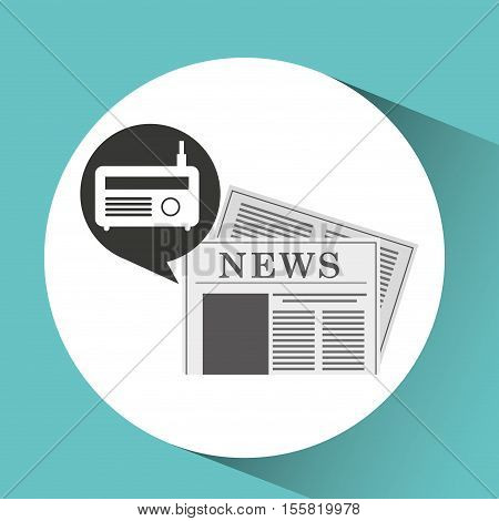 radio icon news bubble speech design vector illustration eps 10
