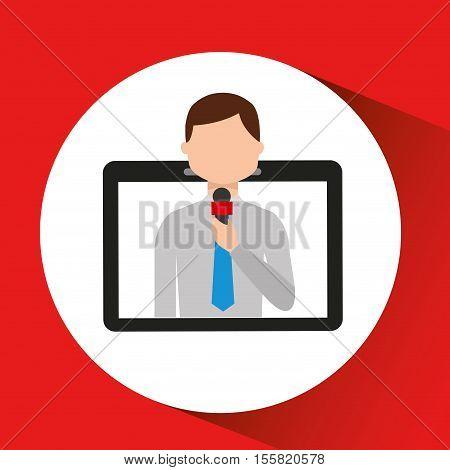 technology digital tablet news correspondent vector illustration eps 10