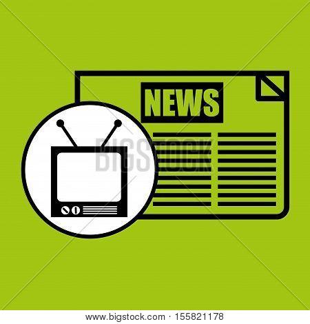 tv vintange news icon graphic vector illustration eps 10