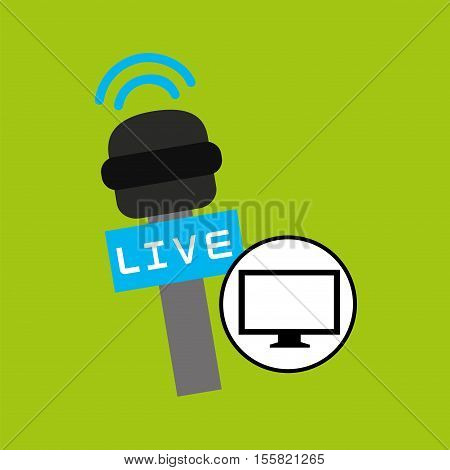 tv plasma digital news icon vector illustration eps 10