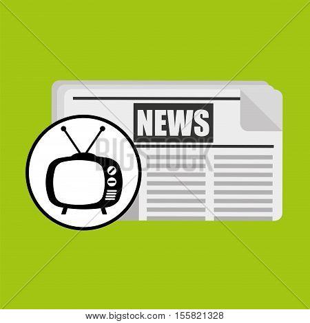 concept news tv retro icon graphic vector illustration eps 10