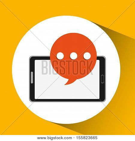 mobile smartphone bubble speech icon vector illustration eps 10
