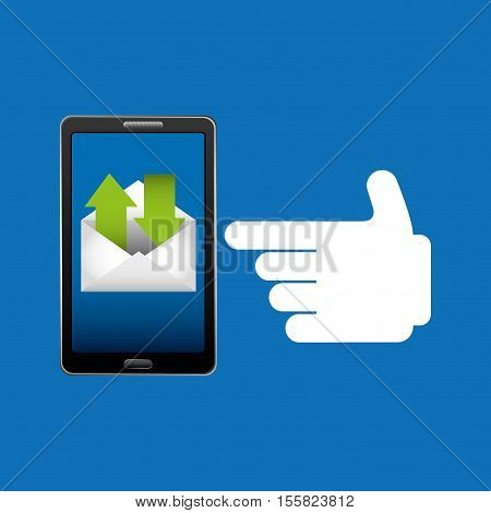 concept email send receive message icon vector illustration eps 10