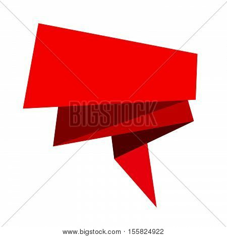 Abstract origami speech bubble icon illustration idesign