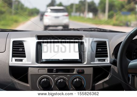the blank of  display screen in car
