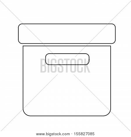 an images of Office File Box icon illustration design