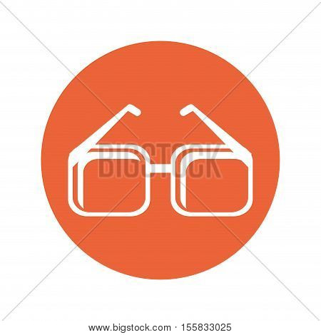 Glasses accessory icon. Fashion style eyesight optical and lens theme. Isolated design. Vector illustration