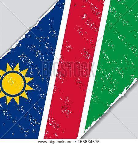 Namibian grunge flag diagonal background. Vector illustration.