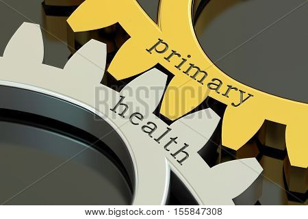 Primary Health concept on the gearwheels 3D rendering