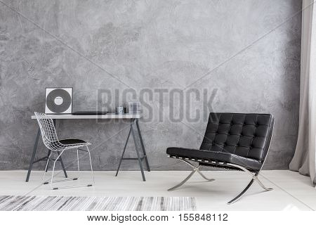 Modern Lounge Chair And Music Collection