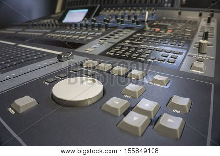 Professional Audio Production Switcher of Television Broadcast Studio