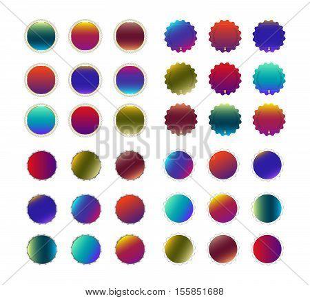 Set Blank Badge template. vector illustration. seal stamp.