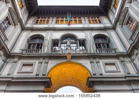 Uffizi Gallery (Palazzo Vecchio) in Florence, Italy