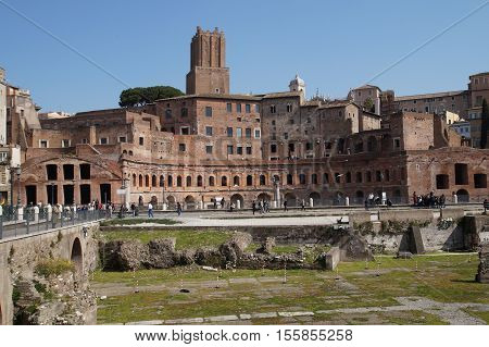 Salva Scarica anteprima The famous ruins of the Roman Forum, Foro Romano, located between Palatino and Campidoglio, the most visited historic site in Rome with the Colosseo. Rome,