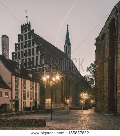 Lutheran Evangelical St. John's Church in old Riga, Latvia.  The church is active place of worship, with more than a thousand registered members