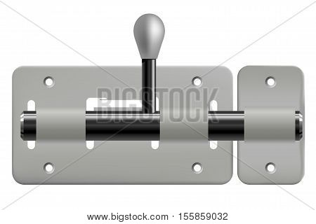 Vector illustration of latch isolated on white background