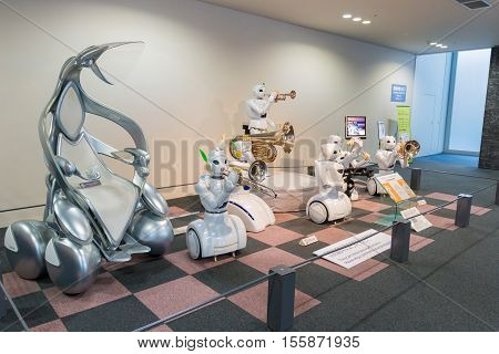 Robot And Electric Vehicle Is One Of Featured Exhibition In Toyota Museum.