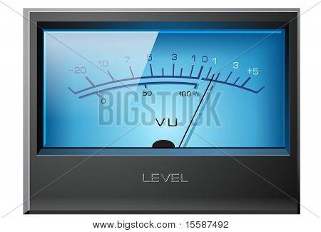 Analog VU Meter Blue