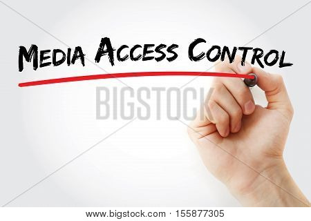 Hand Writing Media Access Control With Marker