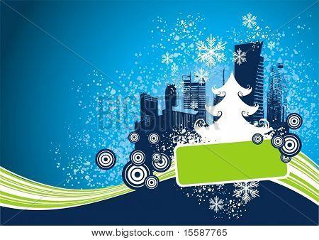 Kerstmis design met frame voor tekst