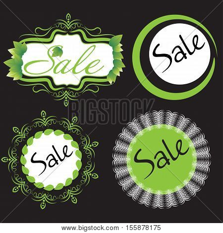 Vector green illustration sale. Can be used for advertising sales web design.