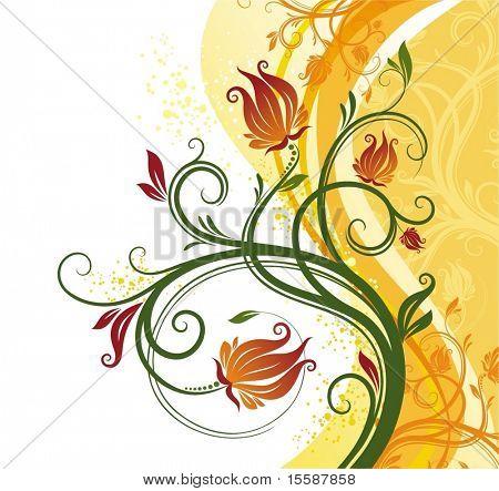 Blumen Hintergrund, Vektor-illustration