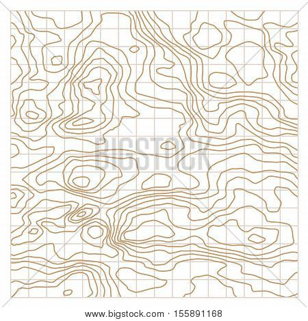 Topographic map texture. Wavy abstract graphic background
