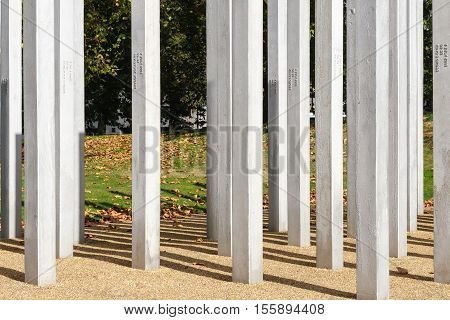 The Memorial in Hyde Park to honour the victims of the 7th July London Bombings