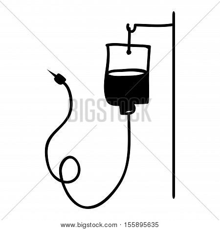 iv bag icon image vector illustration design