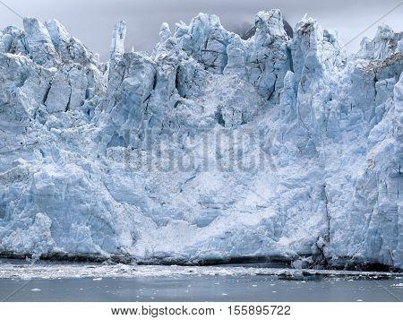 View of Margerie Glacier at Glacier Bay National Park Alaska