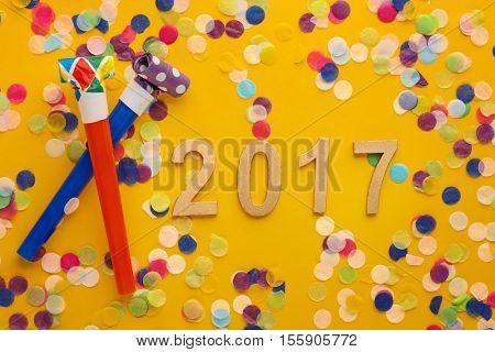New year 2017 decoration
