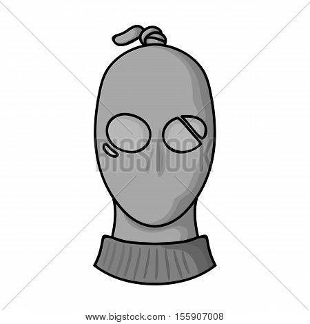 Thief icon in monochrome style isolated on white background. Crime symbol vector illustration.