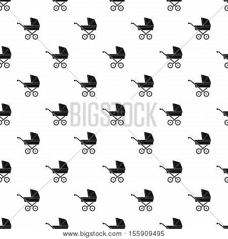 Baby carriage pattern. Simple illustration of baby carriage vector pattern for web