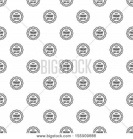 Sale sticker 50 percent off pattern. Simple illustration of sale sticker 50 percent off vector pattern for web