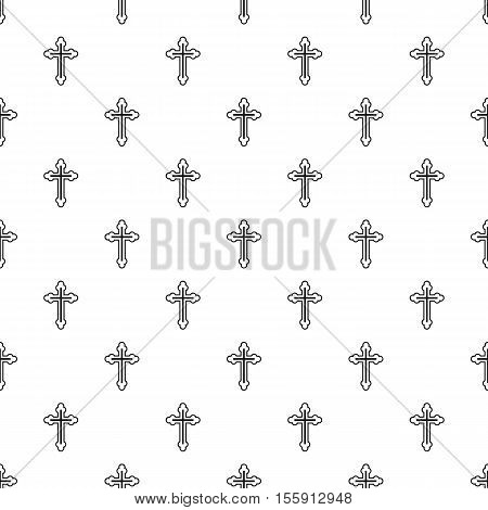 Christian cross pattern. Simple illustration of christian cross vector pattern for web