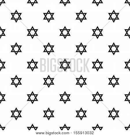 Star of David pattern. Simple illustration of star of David vector pattern for web