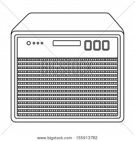 Guitar amplifier icon in outline style isolated on white background. Musical instruments symbol vector illustration