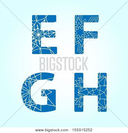 Winter abc. Letters E F G H