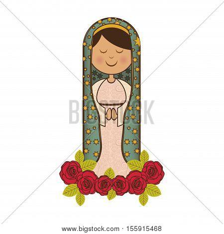 virgin mary icon image vector illustration design