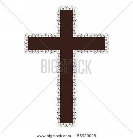crucifix christian or catholic icon image vector illustration design