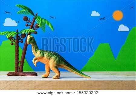 Pachycephalosaurus dinosaur toy model on wild models background