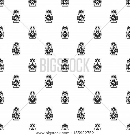 Matryoshka pattern. Simple illustration of matryoshka vector pattern for web